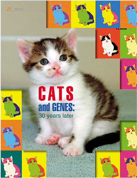 "The first article by Pavel Borodin devoted to cat genetics was published in 1979. In 2009, Science First Hand published the third sequel in the Cats and Genes series. It is topped by a photo of CC cat  (""Carbon Copy"" or ""CopyCat""), the world's first cloned cat"