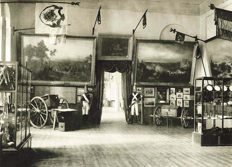 "The French Army retreat hall. The exhibition ""1812"". Moscow, 1912"