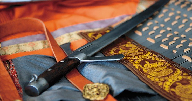 Reconstructed saber of the Mongolian time, 13th century. Photo by S. Borisenko