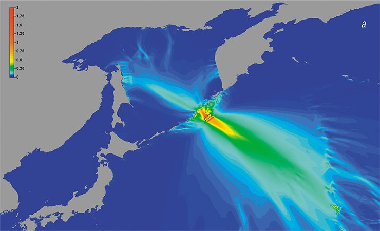 Modern numerical simulations of tsunamis enable fast scenario calculations for tsunamis in actual parts of the ocean