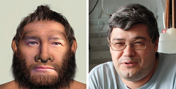 The National Museum of Natural History (Washington, DC, United States) has a funny photo booth transforming any visitor's face into a face of a Neanderthal reconstructed based on the examination of fossils and paleogenetic tudies.This is how the author of this paper would have looked like some 40,000 years ago (TYA) had he been a Neanderthal. (By the courtesy of the author)