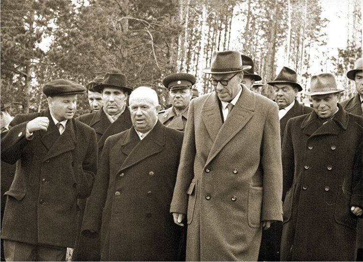 The First Seceretary N. S.Khrushchev visiting in Akademgorodok. 1959