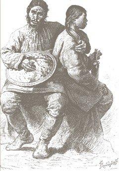 Гольды (нанайцы). Литография XIX века