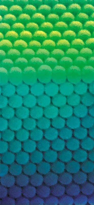 Однородная структура вертикального скола монокристаллической пленки опала