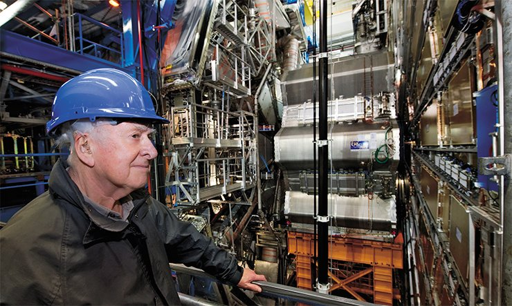 Peter Higgs on a visit to the ATLAS detector. © 2012 CERN