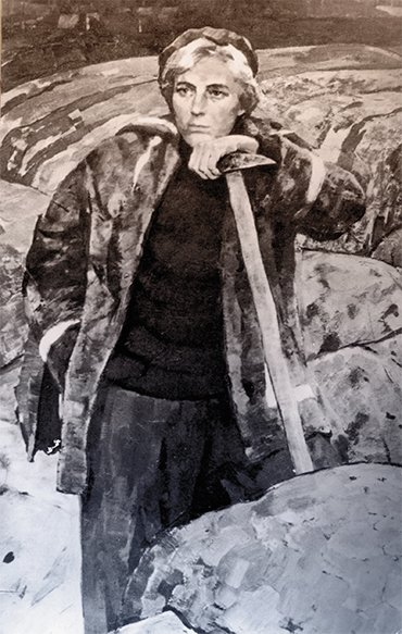 Larisa Popugaeva. Portrait by B. Korneev, 1963. Photo from the Mineralogical Museum, Chair of Mineralogy, St. Petersburg State University