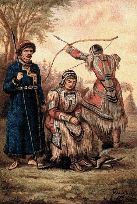 Тунгусы. Народы России: Живописный альбом. — СПб., 1880