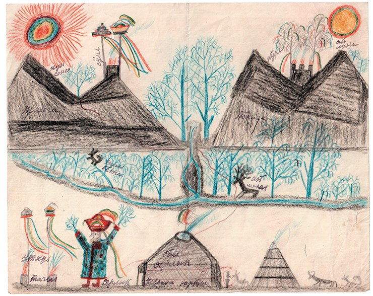 Drawing by Kondrat Tanashev. Archives of the RAS Museum of Anthropology and Ethnography (St Petersburg)