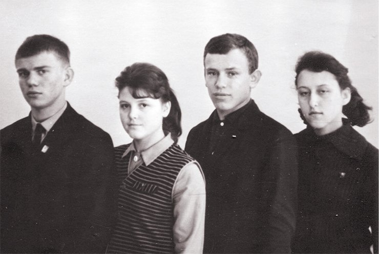 Honor students of the year 1966, school # 85. Minsk