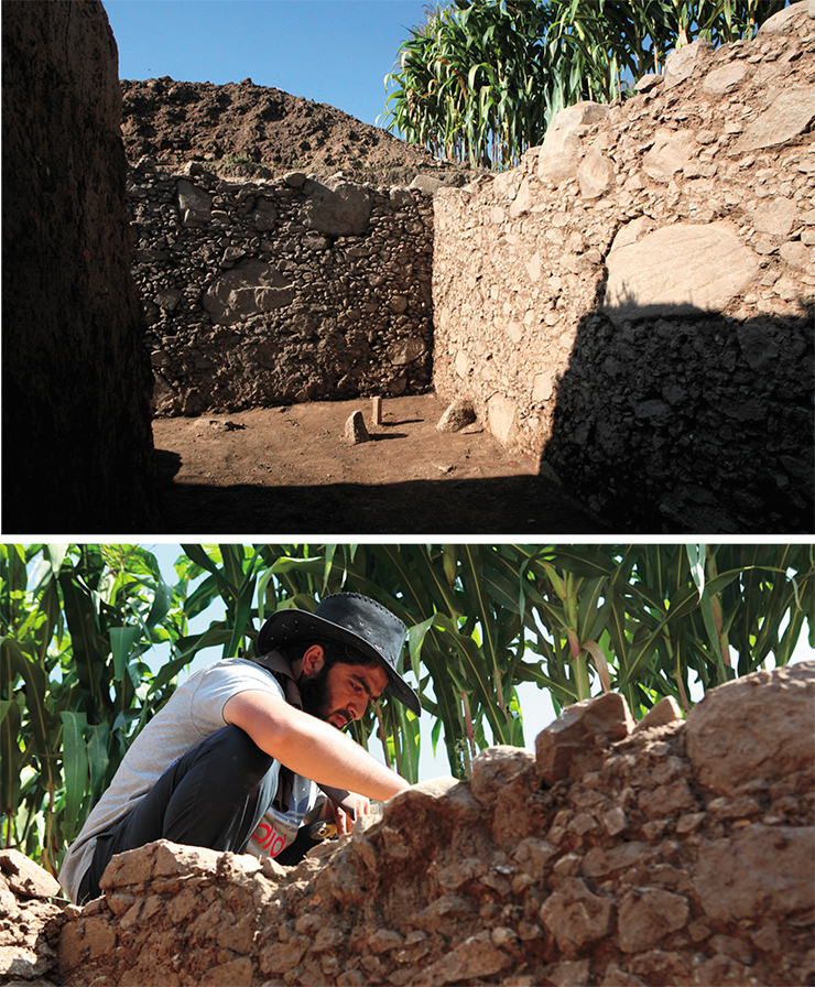The boundaries of the excavation site could not go beyond the field, which was rented from a local peasant for the period of research. 2017