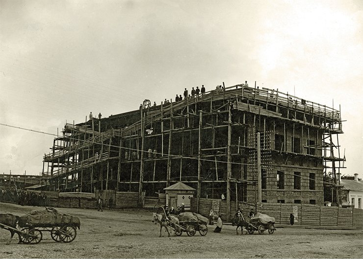 The construction of the Museum of Industry and Art. Ivanovo-Voznesensk.1914