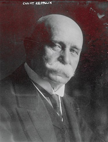 Founder of the airship engineering company Luftschiffbau ZEPPELIN GmbH Count Ferdinand von Zeppelin, 1910.Library of Congress Prints and Photographs Division Washington, D.C. 20540 USA http://hdl.loc.gov/loc.pnp/pp.print