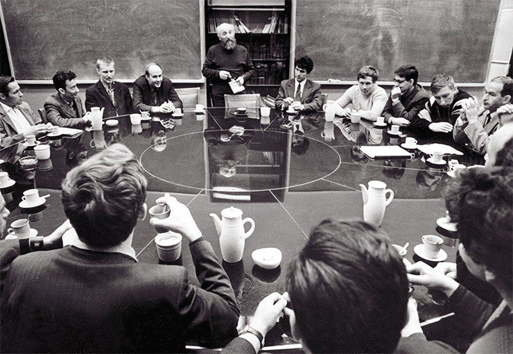 Meeting of the Academic Council, Siberian Branch, USSR Academy of Sciences. Photo by A. Polyakov