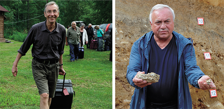 Left: Professor Svante Pääbo is director of the department of evolutionary genetics at the Max Planck Institute for Evolutionary Anthropology in Leipzig, Germany. Right: Mikhail V. Shunkov, RAS Corresponding Member, Director of the Institute of Archaeology and Ethnography and the head of Russia's largest archaeological on-site research center Denisova Cave