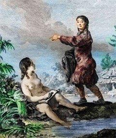 Чукотские женщины. Kracheninnikow S. Voyage en Siberie: La description du Kamtchatka T. II. Paris, 1768