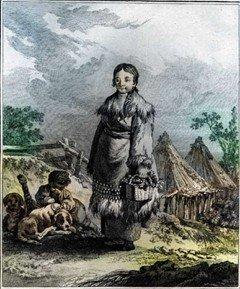 Камчадалка. Рисунок XVIII века. Kracheninnikow S. Voyage en Siberia: La description du Kamtchatka. Т. II. Paris, 1768
