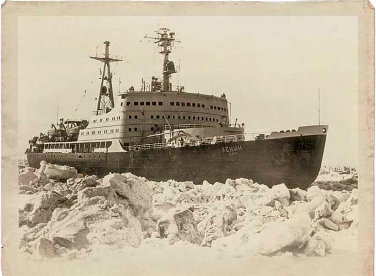 The world's first nuclear-powered icebreaker Lenin