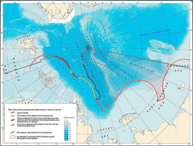 Арктический шельф спорная территория