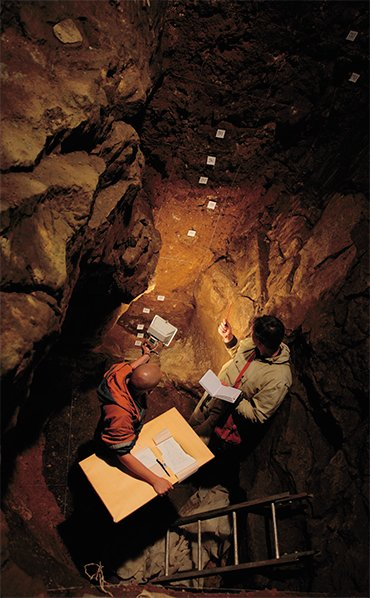 Many-meter-thick deposits in Denisova Cave retain traces of man's life from the Middle Paleolithic to Middle Ages