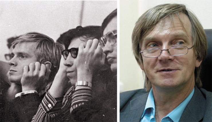 Alexander Bondar in 1977 and 2014