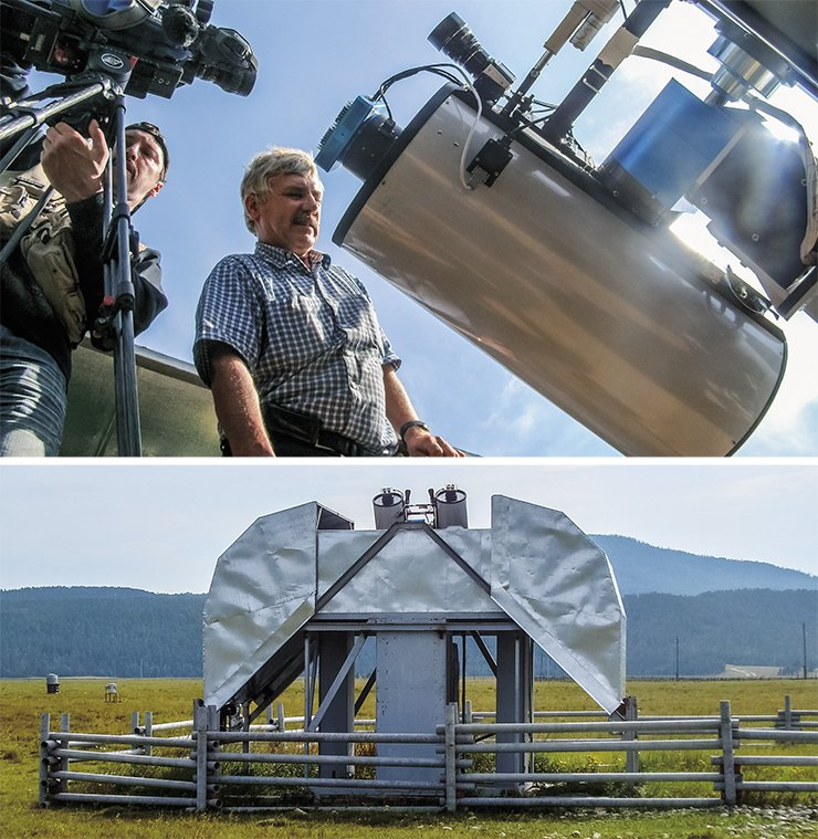 This twinned MASTER-2 telescope installed on the astrophysical test site of Irkutsk State University in the Tunkinskaya Valley is one of the first completely automated systems for monitoring celestial objects in Russia. Photo by the courtesy of the author