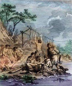 Камчадалы. Kracheninnikow S. Voyage en Siberie: La description du Kamtchatka. T. II. Paris, 1768