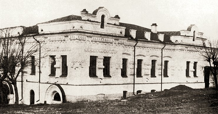 Ipatiev House, owned by Nikolai N. Ipatiev (Vladimir N. Ipatieff's brother), in Yekaterinburg (Sverdlovsk). It was a corner house situated in the big Voznesenskaya Square; thus, it could easily be isolated from other living quarters. These circumstances determined the choice of Ipatiev House for the residence of the tsar and his entire family and for their murders