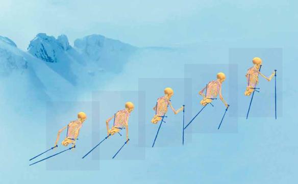 Эффективная для лыжника поза